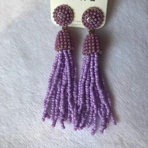 Purple Tassle Earrings